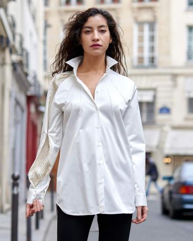 Veste femme Ken Okada originale laine bordeaux et fourrure