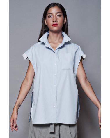 Brown tweed marron Ken Okada original slim-fitted chic women shir jacket