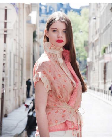 Gold pattern Ken Okada chic women jacket