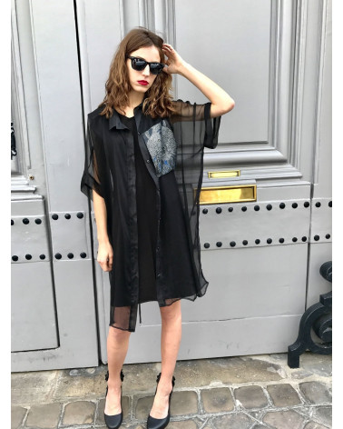 Veste femme Ken Okada motif or chic
