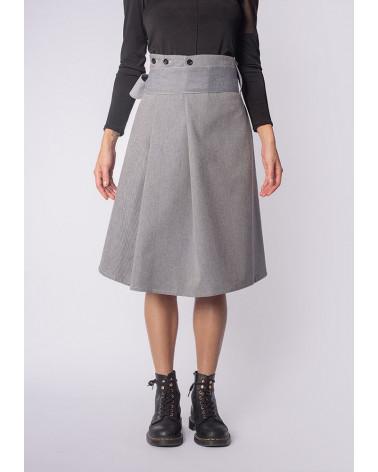 Veste femme Ken Okada jacquard or noir  chic manches bouffantes