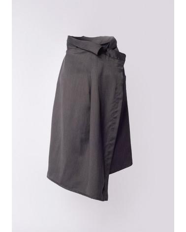 White stretch cotton Ken Okada slim-fitted original chic women shirt