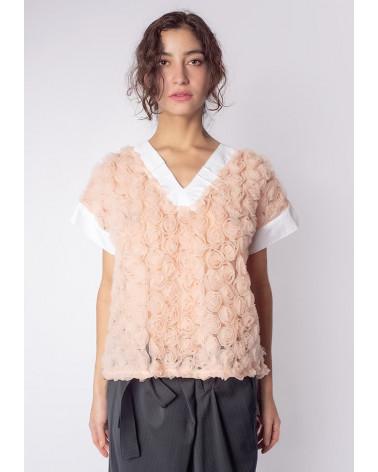 Robe Ken Okada créateur chic coton égyptien sable