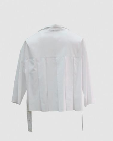 Robe LUNE voile de soie avec fausse poche plaquée - Ken Okada