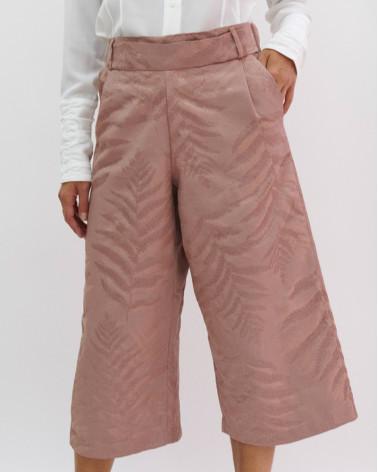 Beige silk Ken Okada slim-fitted original chic women shirt