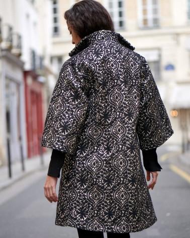 Chemise femme Ken Okada taffetas fuchsia originale élégante