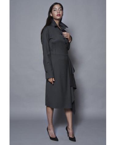 Chemise femme Ken Okada chic rayée coton bleu ciel original